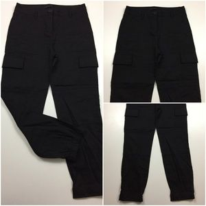 THEORY Linen Blend Cargo/Jogger Style Soft Pants